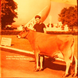 "Jim Cavanaugh, one of 150 ""Borden Boys,"" who took care of the show cows at ""Borden's Dairy World of Tomorrow"" at the 1939 World's Fair  (Photo courtesy of Borden)"