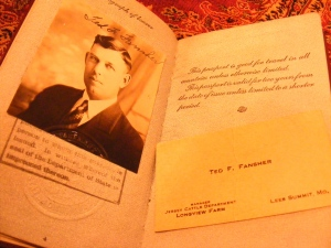 Fansher's passport—1929