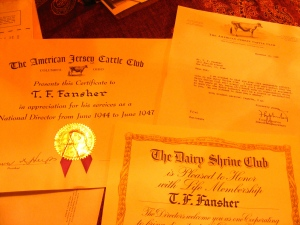 Some of Fansher's awards
